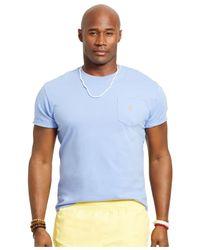 Polo Ralph Lauren | Blue Big & Tall Jersey Pocket T-shirt for Men | Lyst