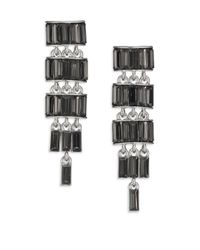 ABS By Allen Schwartz | Metallic Linear Chain Earrings | Lyst