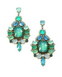 Aerin Erickson Beamon | Green Jewel Drop Earrings | Lyst
