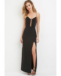 Forever 21 | Black Crisscross-back Maxi Dress | Lyst