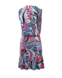 Emilio Pucci | Purple Drape Front Flounce Dress | Lyst