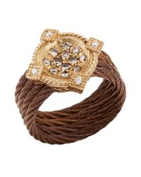 Charriol | Brown Women'S Celtique Rose 18K Gold And Bronze-Tone Diamond .35Tcw Ring | Lyst