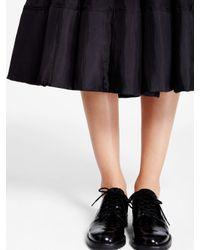 DKNY - Black Pure Silk Midi Skirt - Lyst