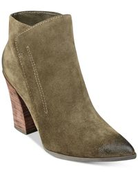 Guess   Green Women's Hardley Pointed-toe Booties   Lyst