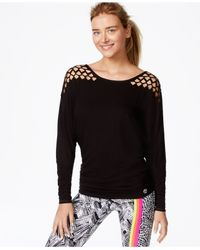 Trina Turk - Black Recreation Laser-cut Top - Lyst