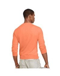 Polo Ralph Lauren - Orange Slim-fit Pima Cotton Sweater for Men - Lyst