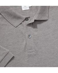 Sunspel - Gray Men's Pima Cotton Pique Polo Shirt for Men - Lyst