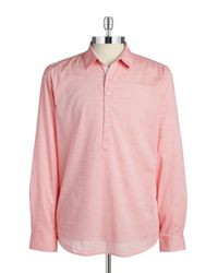Guess | Red Quarter Placket Sportshirt for Men | Lyst