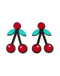 Nasty Gal - Red So Cherry Earrings - Lyst