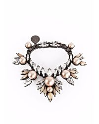 Ellen Conde - Red Powder Pink Pearl And Crystal Bracelet - Lyst