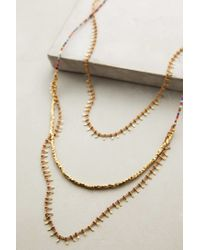 Anthropologie - Metallic Mariam Layered Necklace - Lyst