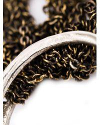 Arielle De Pinto - Metallic Chain Interlocking Ring Bangle - Lyst