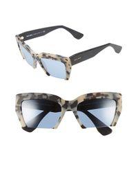 Miu Miu - Gray 'rasoir' 56mm Sunglasses - Lyst