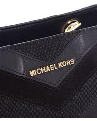 MICHAEL Michael Kors - Black Susannah Medium Tote Bag - Lyst