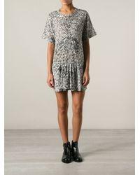 IRO - Black 'Carline' Printed Dress - Lyst