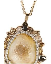 Kimberly Mcdonald - Metallic 18karat Rose Gold Geode and Diamond Necklace - Lyst