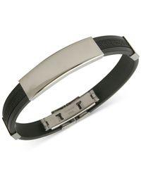 Marc Ecko - Black Mark Ecko Men'S Stainless Steel Rubber Id Bracelet for Men - Lyst