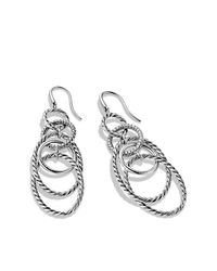 David Yurman | Metallic Mobile Link Earrings With Diamonds | Lyst