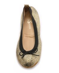 Yosi Samra | Metallic Sandrine Ballet Flats - Dark Silver | Lyst
