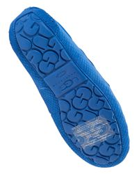 UGG | Blue Dakota Suede and Wool Slippers | Lyst
