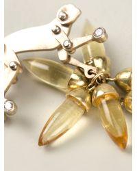 Marc Alary | 18kt White Gold Monkey Earrings | Lyst