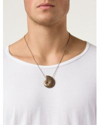 Joseph Brooks - Brown Shell Pendant Necklace for Men - Lyst