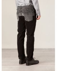 Miharayasuhiro - Black Contrasting Waist Trousers for Men - Lyst