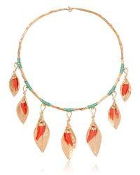 Aurelie Bidermann - Metallic Monterosso Leaves Necklace - Lyst