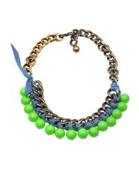 Lanvin | Green Short Necklace | Lyst