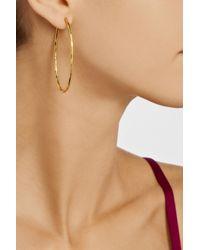 Herve Van Der Straeten - Metallic Hammered Gold-Plated Hoop Earrings - Lyst