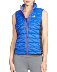 Lauren by Ralph Lauren | Blue Colorblocked Quilted Vest | Lyst