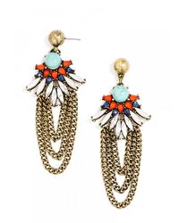 BaubleBar - Blue Turquoise Feather Drops - Lyst