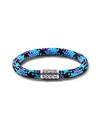 John Hardy - Station Bracelet On Multicolor Turquoise-Blue Sailing Cord - Lyst