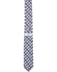 Thom Browne - Blue Navy & Red Check Slim Tie for Men - Lyst