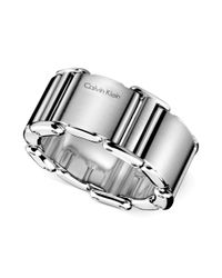 Calvin Klein | Gray Stainless Steel Ring | Lyst
