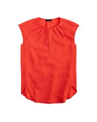 J.Crew | Orange Tall Honeycomb Cocoon Top | Lyst