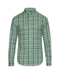 Polo Ralph Lauren | Green Slim-fit Check-print Shirt for Men | Lyst