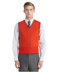 Brooks Brothers | Orange Merino Wool Vest for Men | Lyst