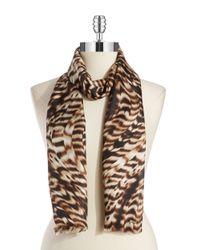 Calvin Klein | Natural Drybrush Silk Scarf | Lyst