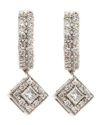 Charriol - Metallic Rhombus-Drop Diamond-Hoop Earrings - Lyst
