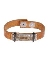 DIESEL | Brown Bracelet | Lyst