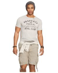 Polo Ralph Lauren - Gray Athletic Club Graphic T-shirt for Men - Lyst