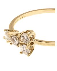 Loren Stewart | Metallic Diamond & Yellow-Gold Spade Ring | Lyst