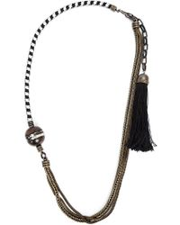 Lanvin - Black 'vita' Long Necklace - Lyst
