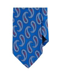 Barneys New York - Blue Men's Paisley Neck Tie for Men - Lyst