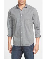 Billy Reid | Gray 'john T' Standard Fit Sport Shirt for Men | Lyst