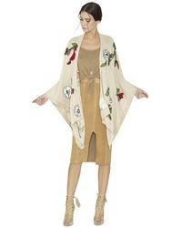 Alice + Olivia - Natural Pati Oversized Open Poncho - Lyst