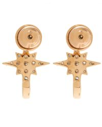 Kismet by Milka | Pink White Diamond K Star Earrings | Lyst