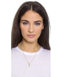 Wouters & Hendrix | Metallic Key Pendant Necklace - Gold | Lyst
