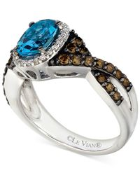 Le Vian - ® Blue Topaz (1 Ct. T.w.) And Diamond (5/8 Ct. T.w.) Ring In 14k White Gold - Lyst